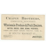 Chapin Boston produce fruit business trade card antique vintage Victorian - $9.99