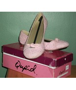 QUPID Pink Lace Ballet Flats with a Bow NIB SZ 7 1/2 - $30.00