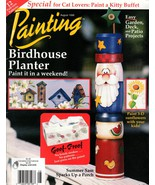 """Tole Painting Magazine """"Painting"""" August 1998 Birdhouse Planter,  Kitty ... - $6.50"""