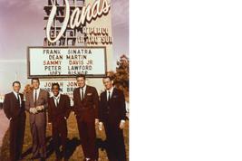 Rat Pack SH Sinatra Martin Bishop Davis Lawford 11X14 Color Movie Photo - $13.95