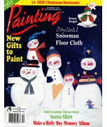 """Tole Painting Magazine """"Painting"""" December 1999 Snowman Floor Cover, San... - $6.50"""
