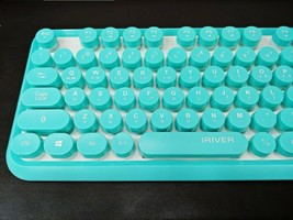 iRiver Korean English Keyboard USB Wired Membrane Bubble Keyboard for PC (Blue) image 6