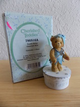 2002 Cherished Teddies Tooth Fairy Covered Box  - $20.00