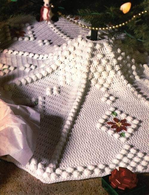 X crochet pattern only snowdrift christmas tree skirt