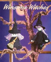 X888 Crochet PATTERN ONLY 2 Halloween Witch Doll Ornament Pattern - $8.50