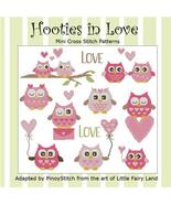 Hooties In Love valentine owl cross stitch chart Pinoy Stitch - $13.50