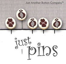 Pomegranate Stitches JP161 set 5 for pincushions JABC Just Another Button Co - $13.95