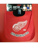 NHL Detroit Red Wings Colored Snap Baby Bib - $12.49