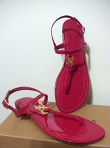 Cole Haan Ally Sandal Raspberry (Fuchsia) Patent Strappy Fashion Flats 8... - $72.16 - $72.25
