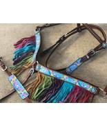 WESTERN SMALL PONY SIZE HORSE RAINBOW PONY UNICORN TACK SET W /WITHER STRAP - $79.90