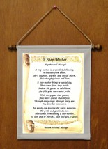 A Step Mother - Personalized Wall Hanging (238-2) - $19.99
