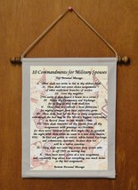 10 Commandments for Military Spouses - Personalized Wall Hanging (336-1) - $19.99