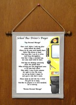 School Bus Driver's Prayer - Personalized Wall Hanging (339-1) - $19.99