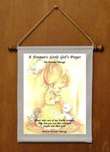 A Fireman's Little Girl's Prayer - Personalized Wall Hanging (351-1) - $18.99