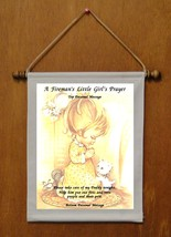A Fireman's Little Girl's Prayer - Personalized Wall Hanging (351-1) - $19.99