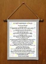 10 Child Commandments - Personalized Wall Hanging (417-1) - $19.99