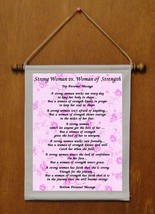 Strong Woman vs. Woman of Strength - Personalized Wall Hanging (415-1) - $19.99