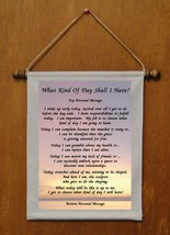 What Kind of Day Shall I Have? - Personalized Wall Hanging (422-1) - $19.99