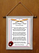Softball Player's Prayer - Personalized Wall Hanging (428-1) - $19.99