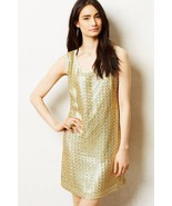 NWT Anthropologie Golden Panes Shift Dress Sz 2... - $67.99