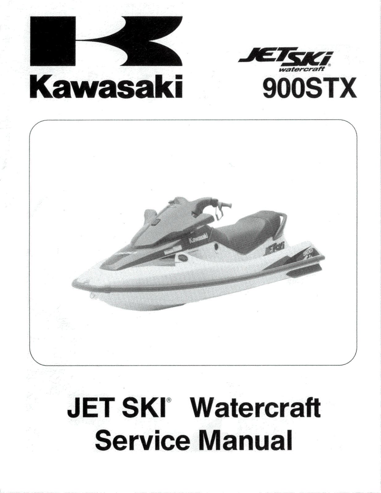 1999 KAWASAKI JETSKI 900 STX 900STX SHOP SERVICE REPAIR MANUAL JT900-B1 97  99 CD - $8.99