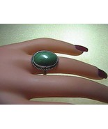 Sterling Silver Oval Shaped  Malachite Ring  5.4 grams - $25.00