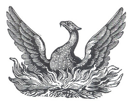 Unmounted Rubber Stamp: Mythical Phoenix - $3.00