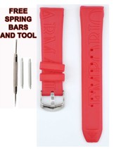 Compatible Armani  20mm Red Rubber Watch Strap (Similar) ARM135 - $19.79