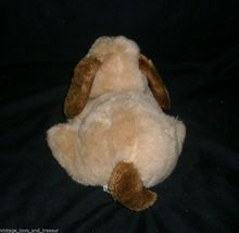 "10"" VINTAGE 1983 ENESCO TAN BROWN LAYING PUPPY DOG STUFFED ANIMAL PLUSH TOY SOFT image 4"