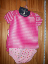 Faded Glory Baby Clothes 0M-3M Newborn Short Outfit Shirt Strawberry Bod... - $14.24