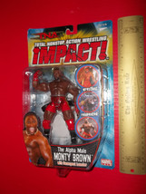 Wrestling TNA Action Figure Toy Alpha Male Monty Brown Sport Marvel Collectible - $18.99