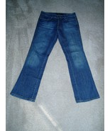 CALVIN KLEIN Lean Boot Cut JEANS w/ Stretch Size 6 X 28.5 Rustic Wash