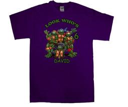 Teenage Mutant Ninja Turtles Personalized Purple Birthday Shirt - $16.99+