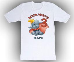 Dumbo Personalized White Birthday Shirt - $14.99+