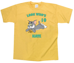 Tom and Jerry Personalized Yellow Birthday Shirt - $16.99+