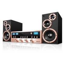 Innovative Technology ITCDS-5000-RSG Classic Retro Bluetooth Stereo Syst... - $81.99