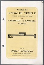 Illustrated Catalog Hand out for Knowles Temple with 12 Ring Crompton Roll - $12.99