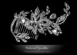 Trina Flower Twine Hair Comb | Swarovski Crystal - $76.95