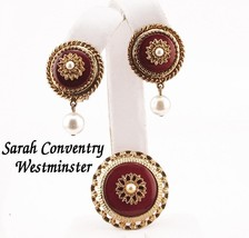 Vintage Sarah Coventry Brooch and Earrings Set,... - $14.95