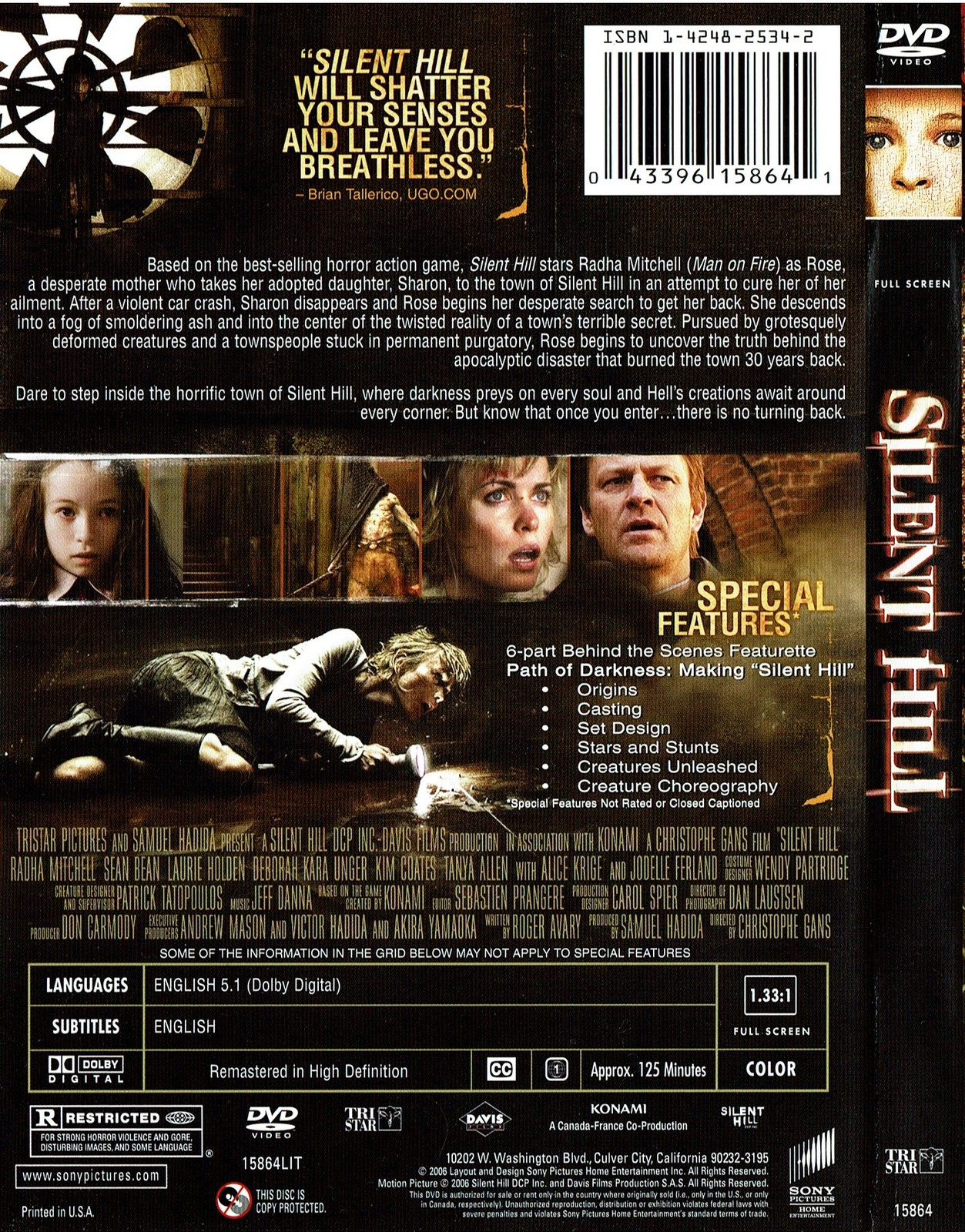 Silent Hill, DVD, 2006, Horror, Full Screen