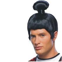 Wig - Japanese Samurai - Adult Asian Man Sumo Ninja Warrior - $15.19