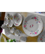 46 PC Wawel Poland Rose Garden fine china, Svc for 8, plus serving pcs, ... - $249.00