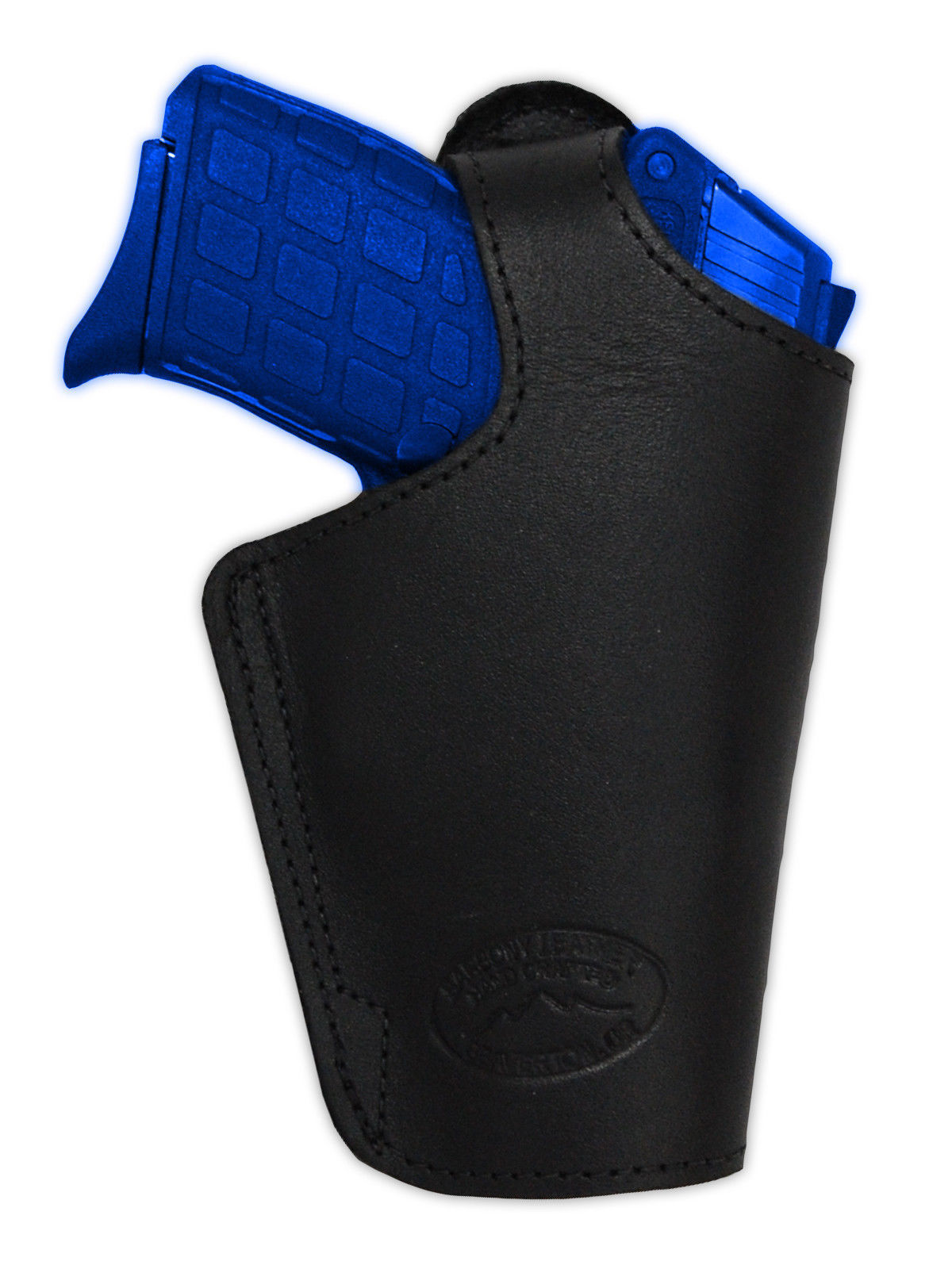 Barsony Black Leather OWB Belt Loop Holster Sig, Walther Small 380 Ultra-Compact