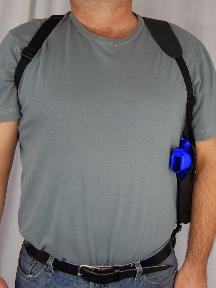 Barsony Black Leather Vertical Concealment Shoulder Holster STEYR GB MODEL M&S