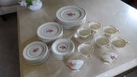 CASTLETON USA DOLLY MADISON CHINA, service for 8 LESS 1 salad plate, Mint - $299.99