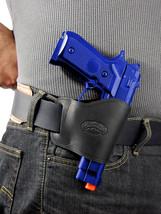 Barsony Black Leather Yaqui Gun Holster Taurus, Springfield 9mm 40 45 Full Size - $26.99