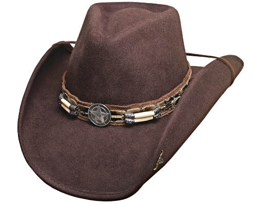 Primary image for Bullhide Skynard Wool Cowboy Hat Barrel Beads Western Star Concho Brown Black