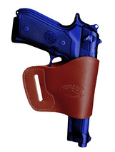 Barsony Burgundy Leather Yaqui Gun Holster for Astra Beretta 9mm 40 45 Full Size - $26.99