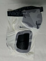 Nike Pro Hyperstrong Padded Football Pants Sz M Boys White Camouflage 90... - $44.99