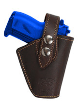 Barsony Gun OWB Brown Leather Belt Clip Holster for Astra AMT CZ Mini 22 25 380 - $34.99